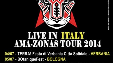 DR KRAPULA IN CONCERTO A ROMA. AMA-ZONAS TOUR 2014 – ROCK LATINO